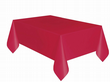 Christmas Party Ideas - Red 9 x 4.5 ft (2.74m x 1.37m) Plastic Tablecloth Cover